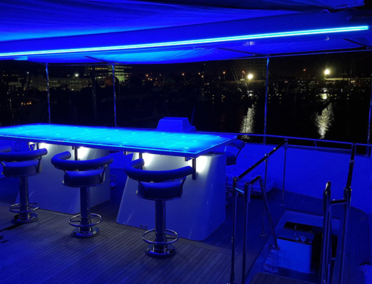 blue flixible neon strip lighting