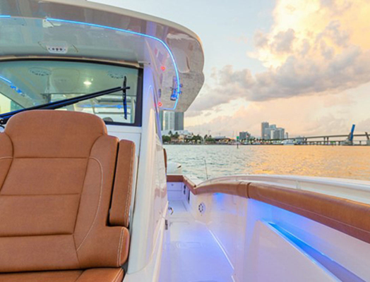 Neon flexible strip boat lighting