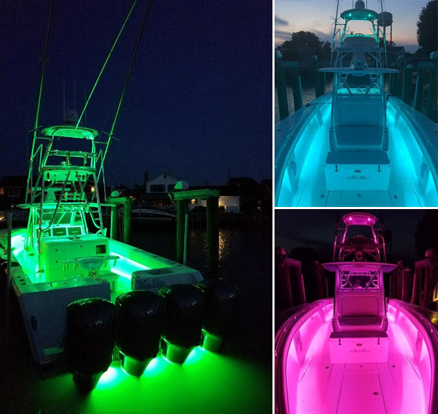 color changing underwater lights