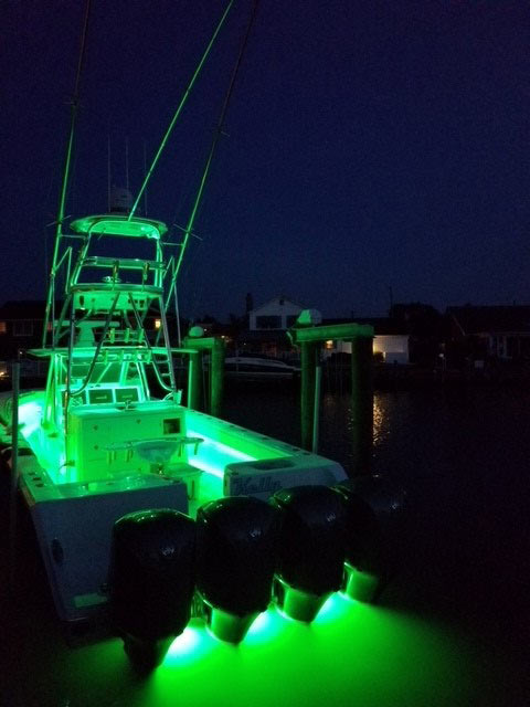 Color Changing Led Underwater Lights Sync With Your Boat