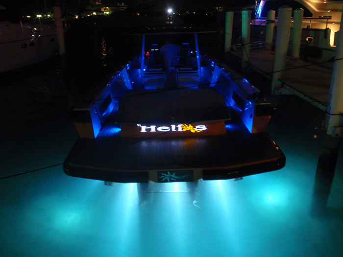 DV12 blue LED deck lights SV19 Underwater Lights